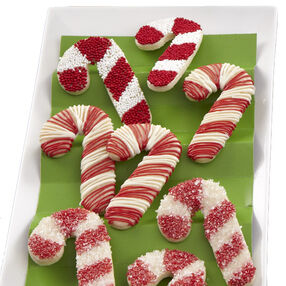 Candy Cane Chain Cookies