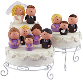The Wedding Party Makes the Rounds Cakes