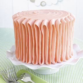Plush Orange Ribbon Cake
