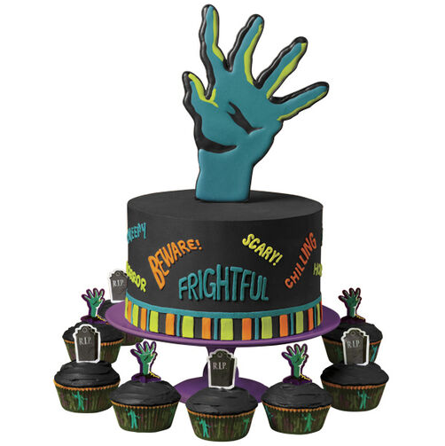 Horror Hand! Cake and Cupcakes