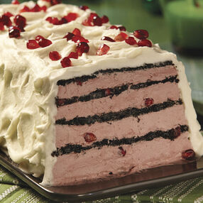 Pomegranate & White Chocolate Icebox Cake