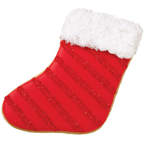 Shimmering Christmas Stocking Cookie