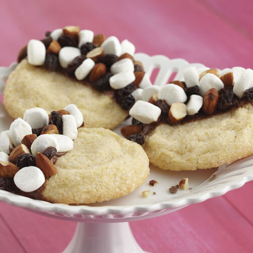 Trail Mix Snickerdoodle Cookies