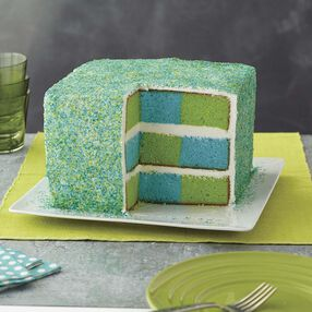 Wilton Eco Color Sparkles Checkerboard Cake
