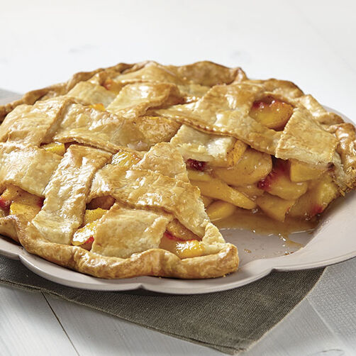 Latticed Peach Pie