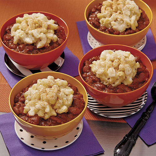 Mac and Cheese Cups with Chili