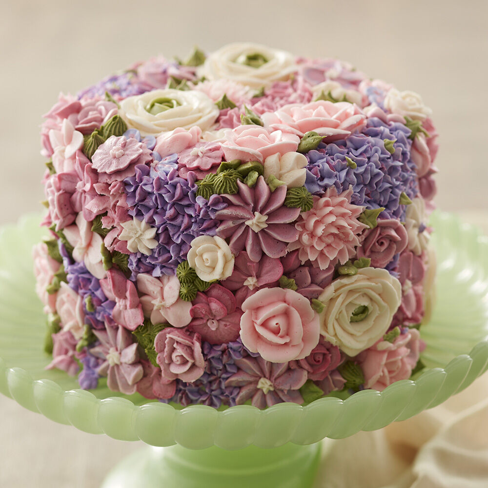 Blossoming Spring Flowers Cake Wilton