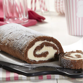 Chocolate Ice Cream Roll Cake