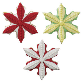 Perky Poinsettias Holiday Cookies