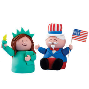 Lady Liberty and Uncle Sam Brownies