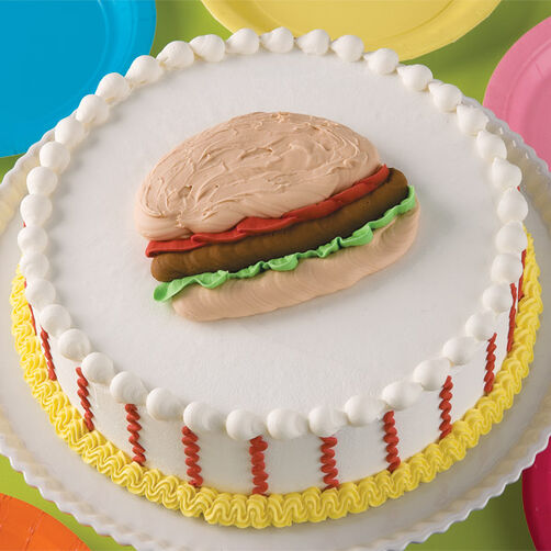 Sweetest Burger in Town Cake
