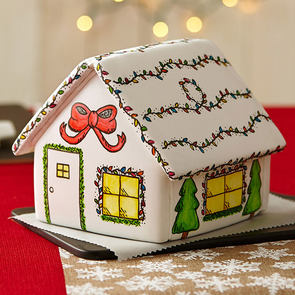 Painted Christmas Gingerbread House Wilton