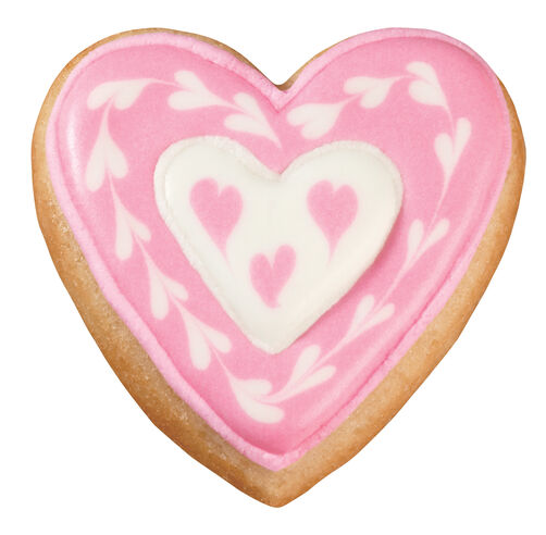Hearts Within Hearts Pan Cookies