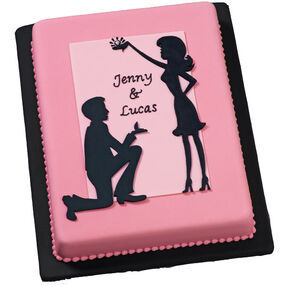 Engaging Silhouettes Cake