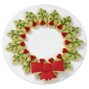 Shimmering Christmas Cookie Wreath