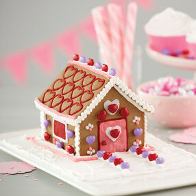 Mini Valentine Gingerbread House