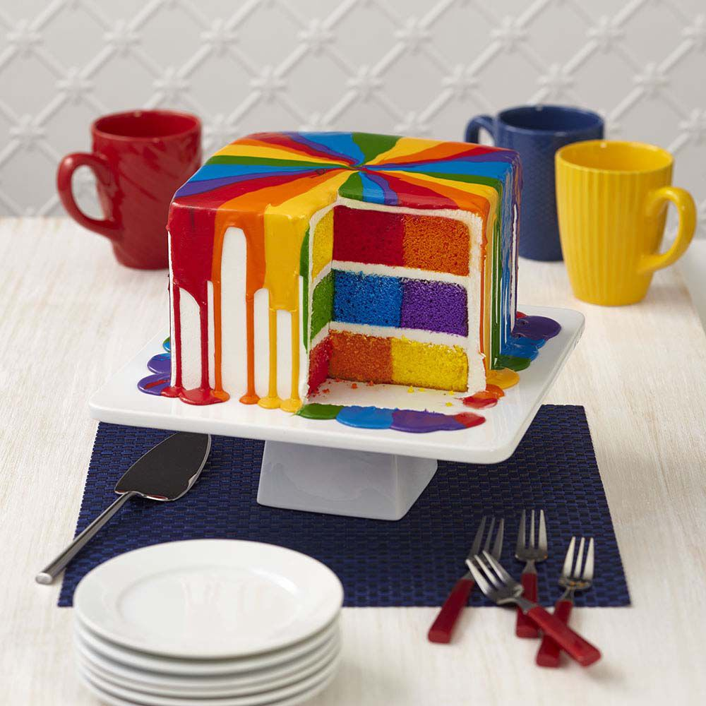 Over The Rainbow Checkerboard Cake Wilton