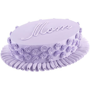 Oval Rose Mother's Day Cake