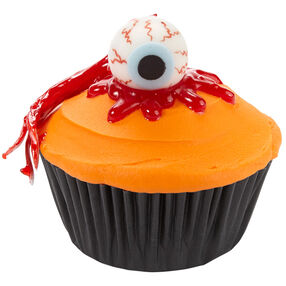 Socket to Them Halloween Eyeball Cupcakes