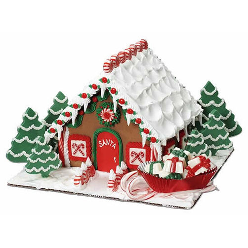 Santa Calls It Home Gingerbread House