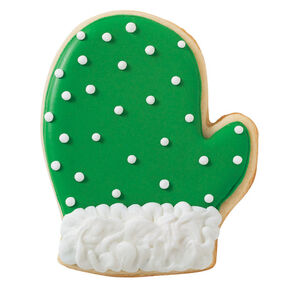 Holly Green Mitten Cookie