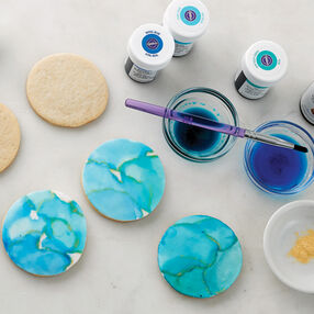 Faux Watercolor Cookies
