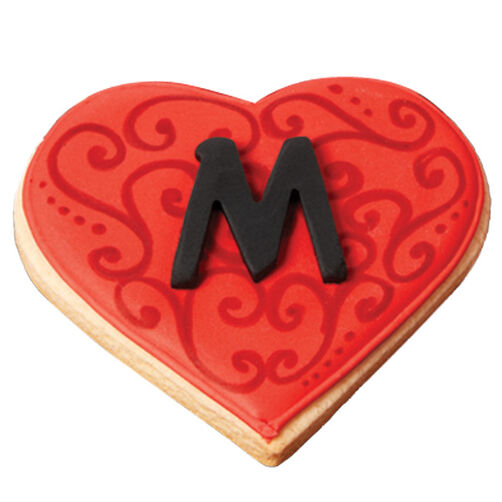 Initial Heart Valentine's Day Cookies