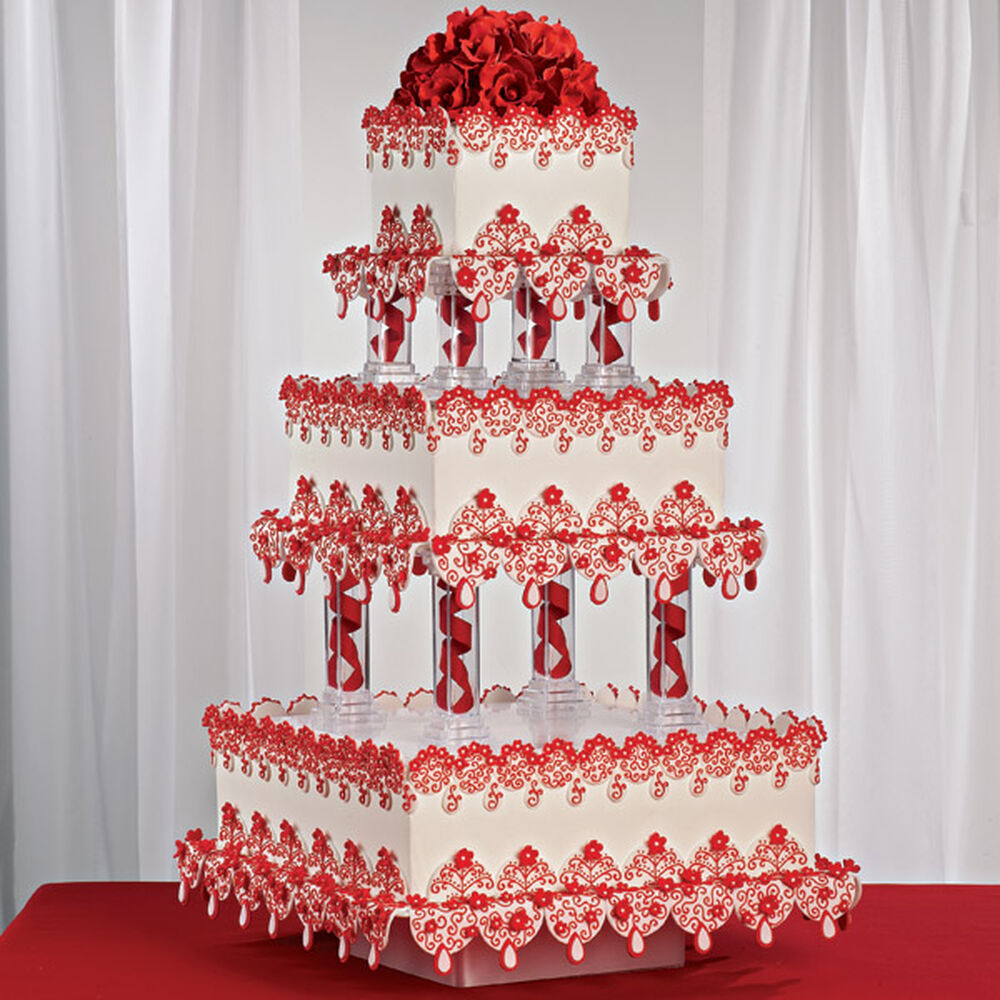 Crimson Lace Cake Wilton