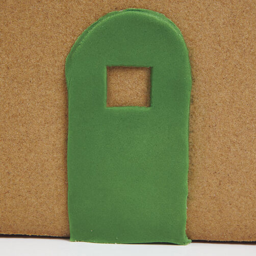 Fondant Door for a Gingerbread House