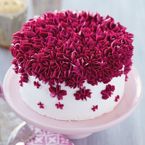Filled with Fuchsia Drop Flower Cake