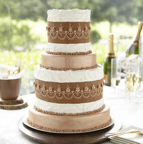 Metallic Bronze Tiered Cake