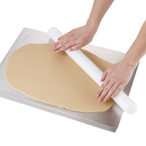 Rolling Out Dough On Cookie Sheet