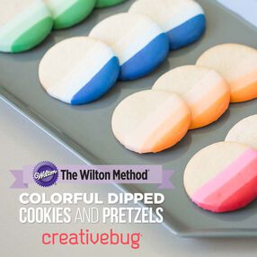 Wilton Colorful Dipped Cookies & Pretzels by Creativebug
