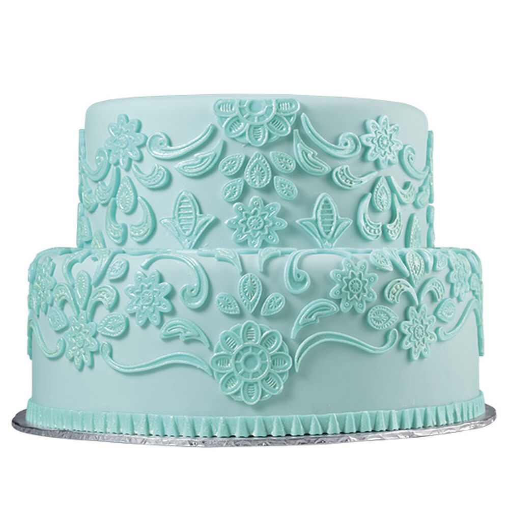 Cake With Fondant Lace : Lovely Lace Fondant Cake Wilton
