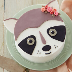 Ribbon Rosy Raccoon Cake