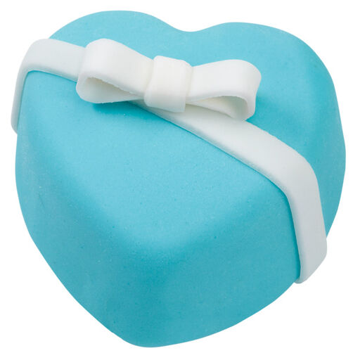 Blue Heart Mini Cakes