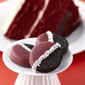 Velvet Dipped Sandwich Cookies