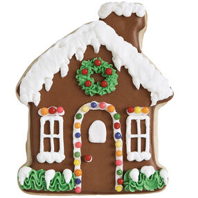 Jolly Gingerbread House Cookie