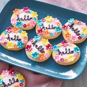 A Cheery Hello Cookie