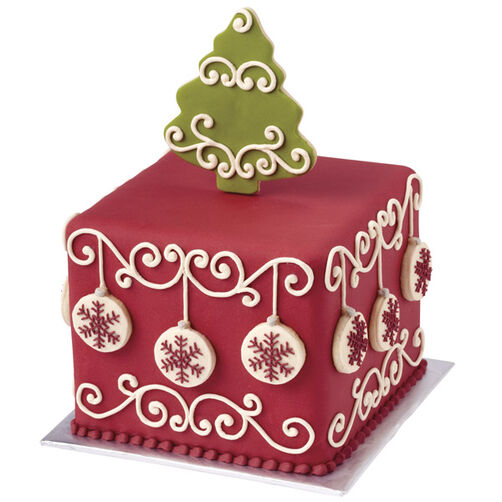 Decked Out for the Holidays Christmas Cake