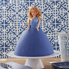 Beauty in Blue Fondant Doll Cake