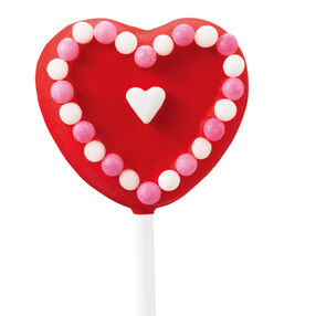 Outlined Red Hearts Pops