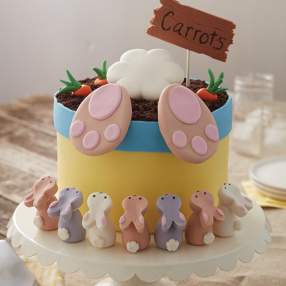 Attractive Wilton Baby Shower Cakes Part - 11: Bunny Butt Easter Cake And Bunny Treats