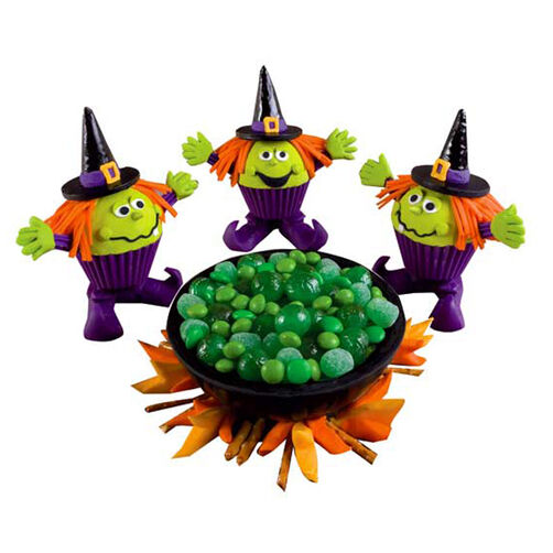 Closely Witched Pot Cupcakes