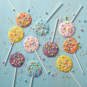 Colorful Sweet Pops made with Candy Melts and sprinkles