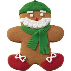 Holiday Dressed Up Gingerbread Boy with Beard
