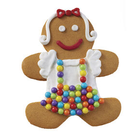 Holiday Dressed Up Gingerbread Girl with Candy Apron