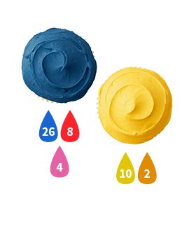 Blue and Yellow Buttercream Icing Color Key