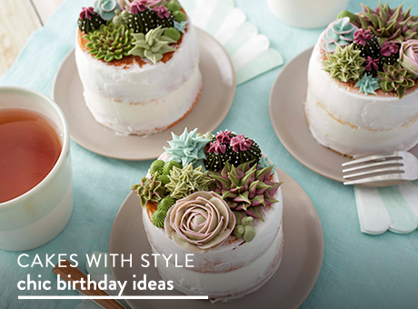 Cakes with style. Chic birthday ideas