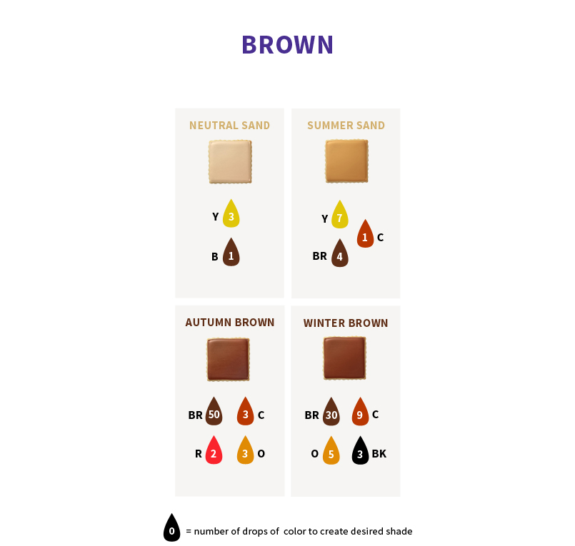 Brown Color - Geo Tri Color Brown Circle Lenses 2 Charming Project ...